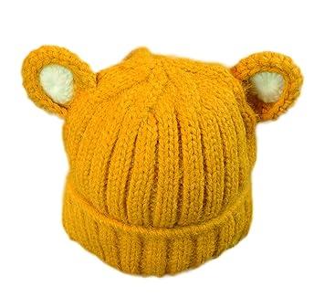 cosanter Otoño y el invierno gorro bebé gorro de punto de lana de bebé niño  gorro recién nacido orejas de gato Ear Cap  Amazon.es  Bricolaje y  herramientas 3230ed870ba