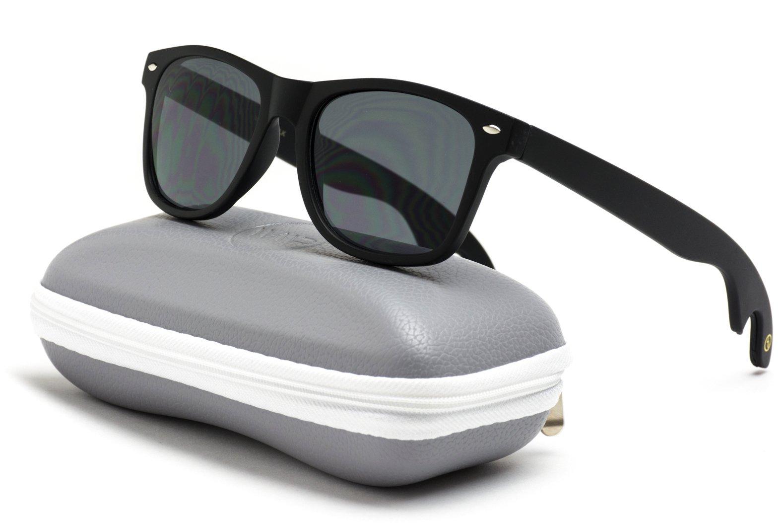 New Horn Rimmed Style Bottle Opener Sunglasses by WearMe Pro