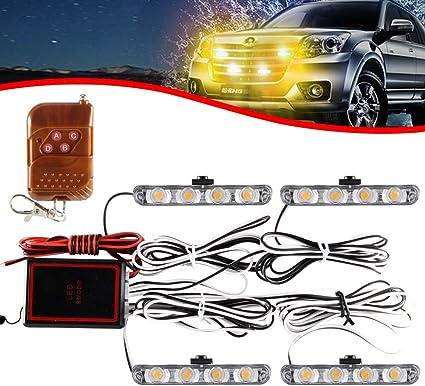 4x4 LED 4 en 1 Remoto Inalámbrico Luz de Advertencia ...