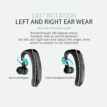 GWJ Auriculares Bluetooth Inalámbricos En La Oreja, Auriculares Inalámbricos De Manos Libres para Negocios 4.1