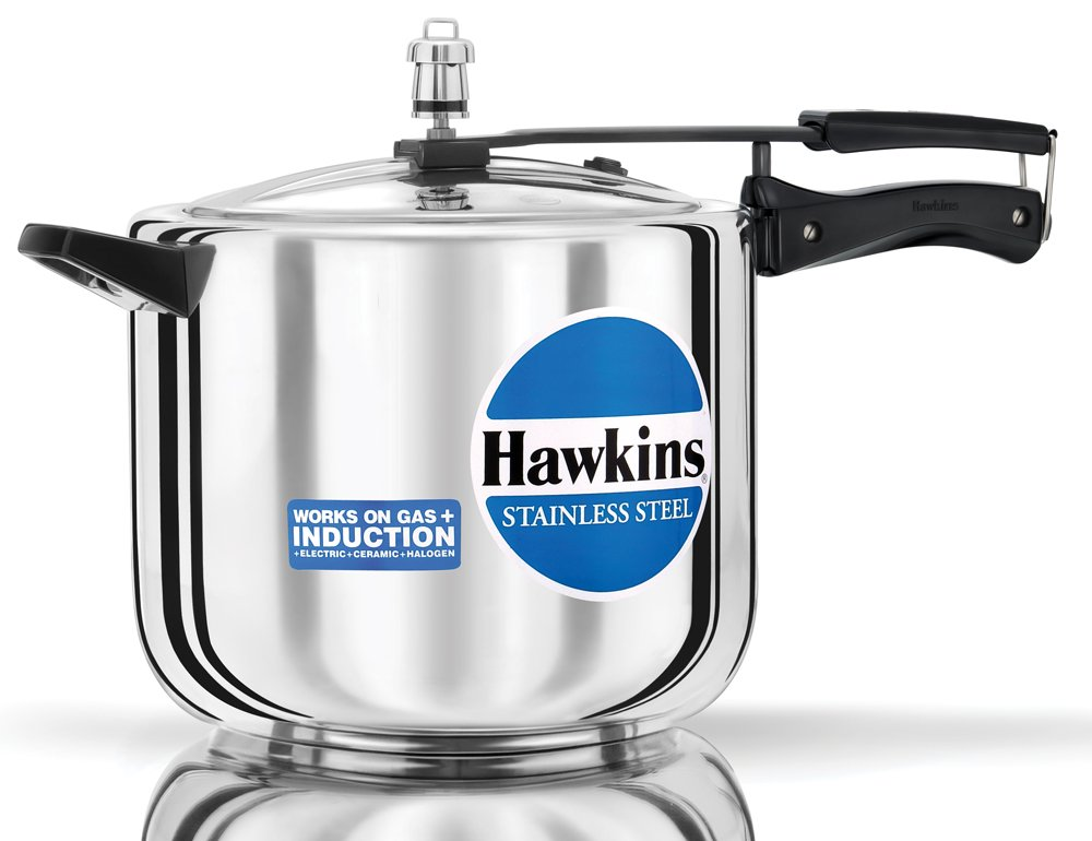 new hawkins 10 liters stainless steel pressure cooker 10l ebay. Black Bedroom Furniture Sets. Home Design Ideas