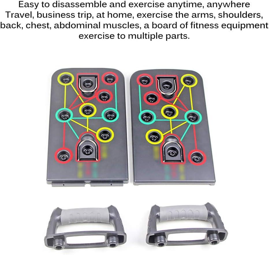 FreeLeben Pliable Push Up Board 9 en 1 Couleur Power Press Push Up Rack Bracket Board avec Poign/ée pour La Formation Dexercices de Fitness /à Domicile Syst/ème de Supports Dexercice