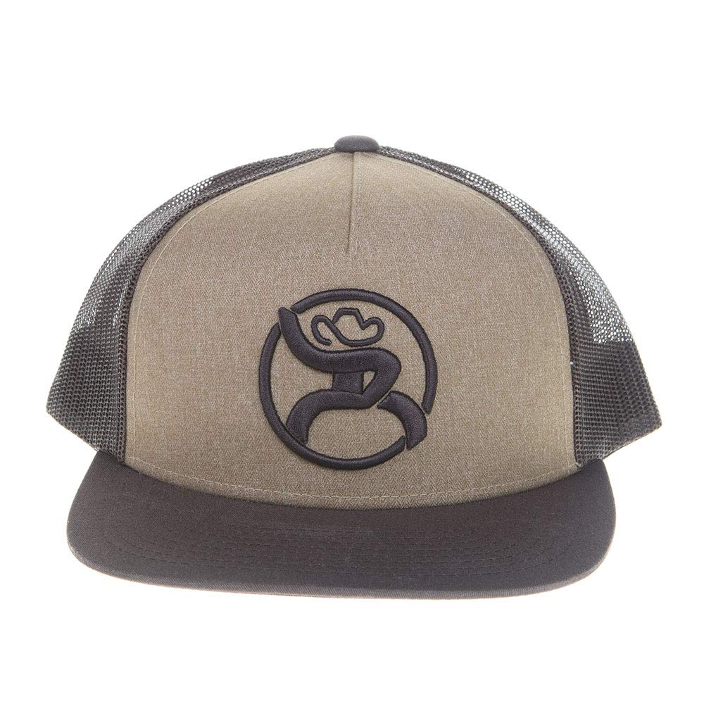 a545fbf80049b2 ... HOOey Mens Mens Mens Roughy 2 0 Brown Trucker Cap with Logo Chocolate  Tan 107752 ...