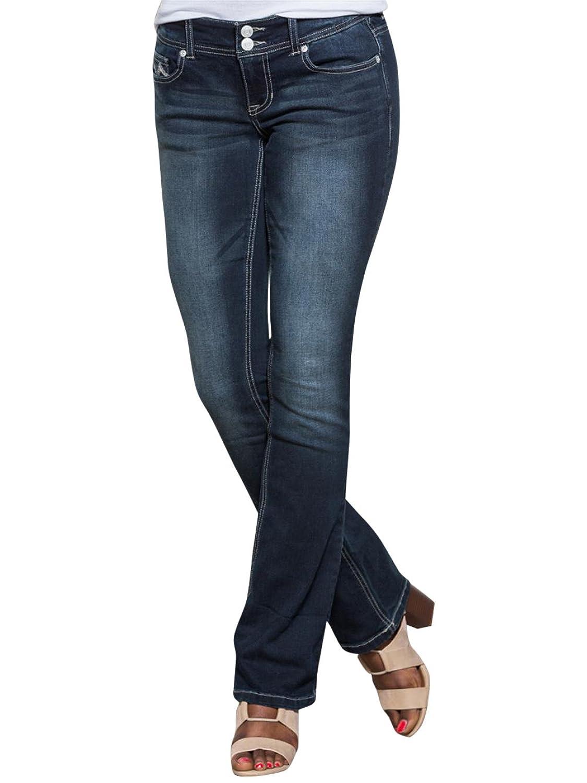 VANITY Women's Sasha Baby Boot Lurex Ultra Jeans 32W 31L Dark Denim