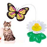 Lictin Butterfly Toy for Cats Electric Rotating Flying Funny Butterfly Cat Toy for Pet Cat?green?
