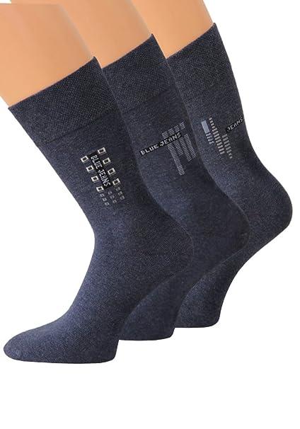 Jeans Calcetines Hombre Algodón con sutil motivos 3 pares: Amazon.es: Ropa y accesorios