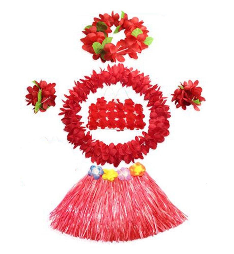 Hawaiano del bailarín de Hula falda de hierba para Niños, favores de la fiesta de cumpleaños favores de la fiesta de cumpleaños Black Temptation