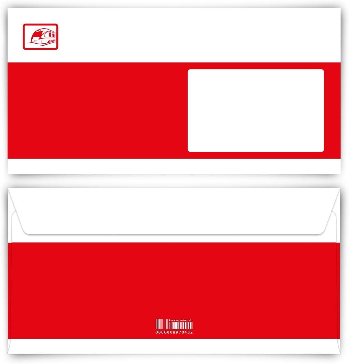 Briefumschl/äge 10 St/ück DIN Lang Bahnkarte Ticket