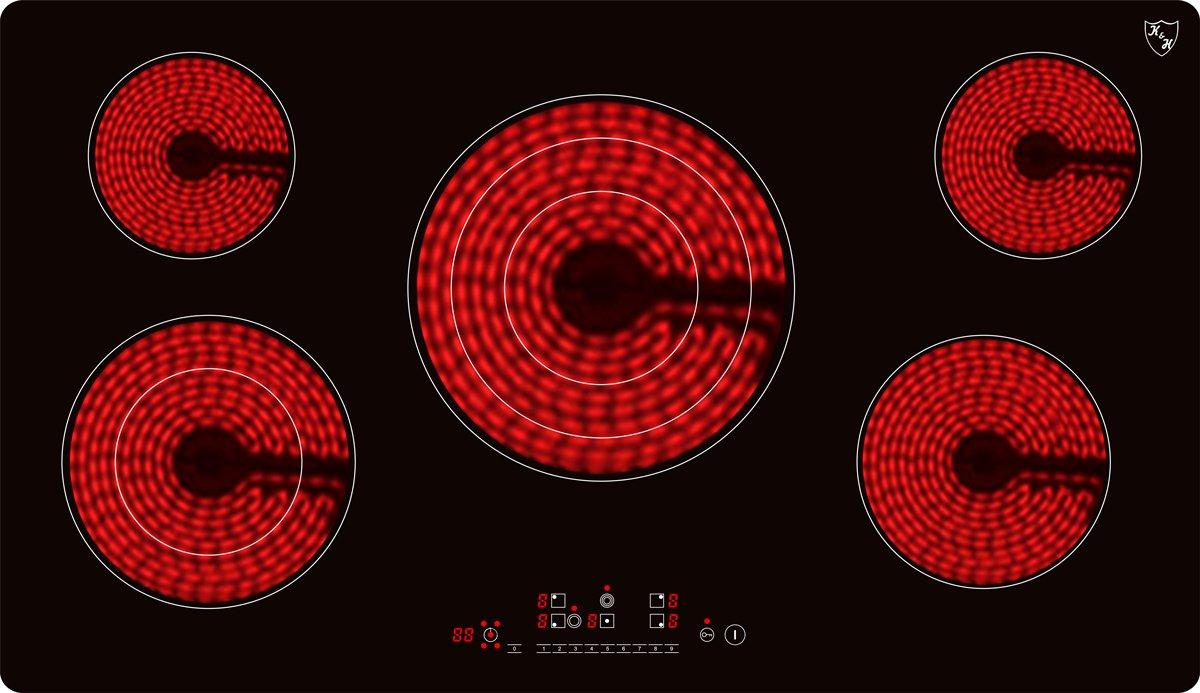 K&H Encimera vitroceramica con 5 zonas de cocción C10208 ...