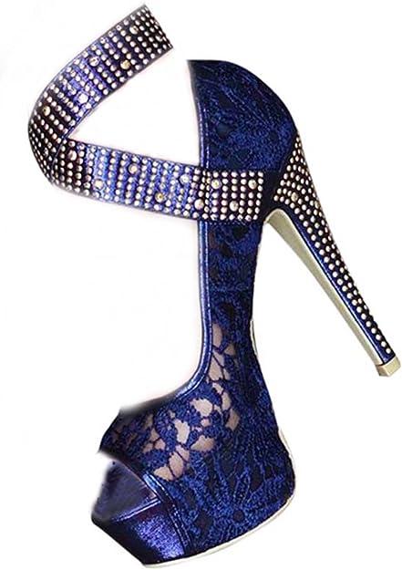 Chic Feet Ladies Womens Sexy Navy Blue