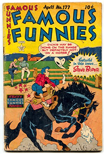 (Famous Funnies #177 1949- Dickie Dare cover-Buck Rogers- Steve Roper G )
