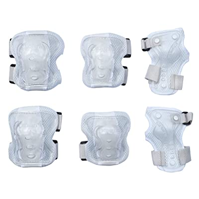 Dtown Kids Knee Pads Toddler Elbow Pads Boys Wrist Guards 3 in 1 Protective Gear Set for Roller Skates Bike Scooter Hoverboard (White) : Sports & Outdoors