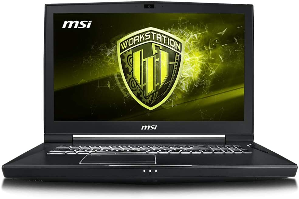 "MSI WT75 8SM-018 17.3"" Mobile Workstation Laptop Quadro P5200 16G Xeon E-2176G 64GB 512GB SSD + 1TB HDD Aluminum Black"