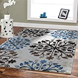 Premium Soft Rugs For Living Room Luxury 5×8 Cream Blue Brown Black Area Rugs Modern Rug For Dining Room 5×7 Bedroom Carpet Area Rugs Clearance For Sale