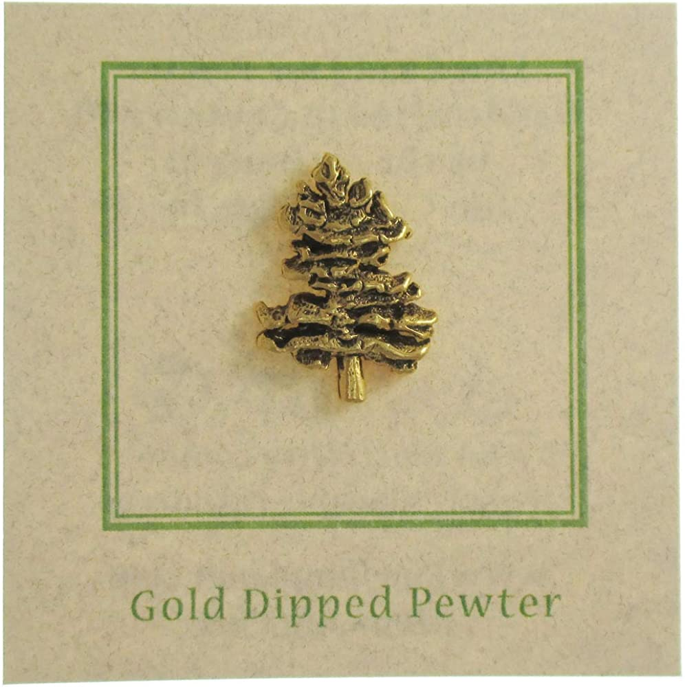 Jim Clift Design Northern White Pine Gold Lapel Pin