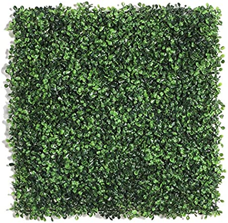 Planta de seto artificial, paneles de pantalla topiaria, resistente a los rayos UV, valla de privacidad sintética, paneles de pared de setos artificiales ecológicos para jardín, patio, decoración interior y exterior.: Amazon.es: