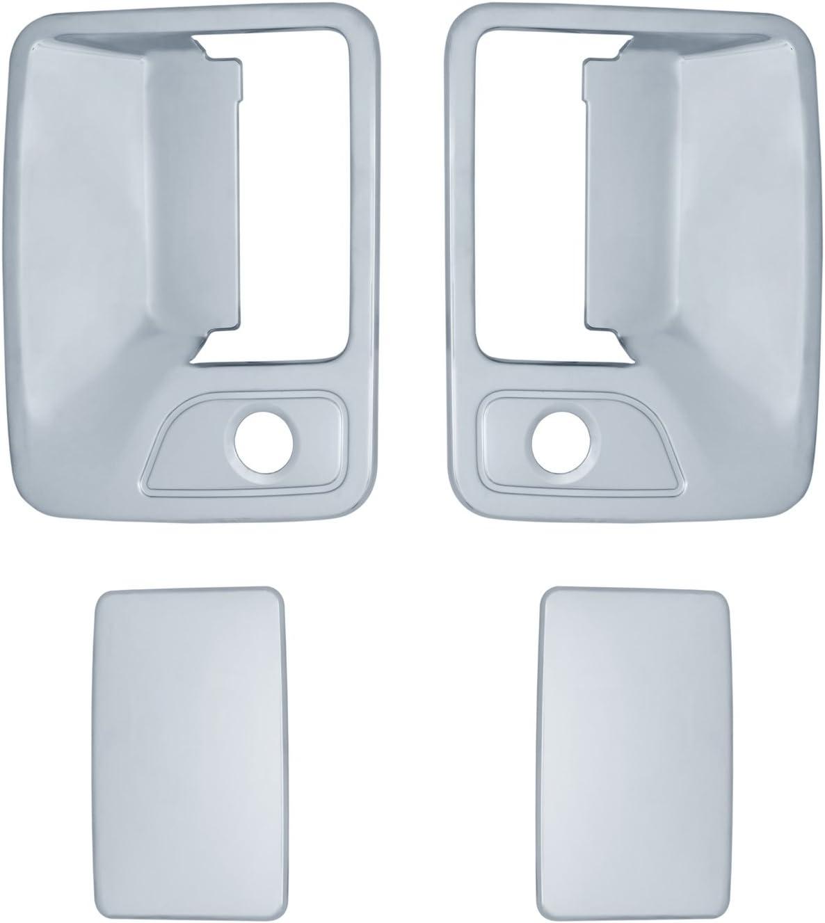 2 Piece Brite Chrome 11205K Chrome Door Handle Cover with Pass Keyhole