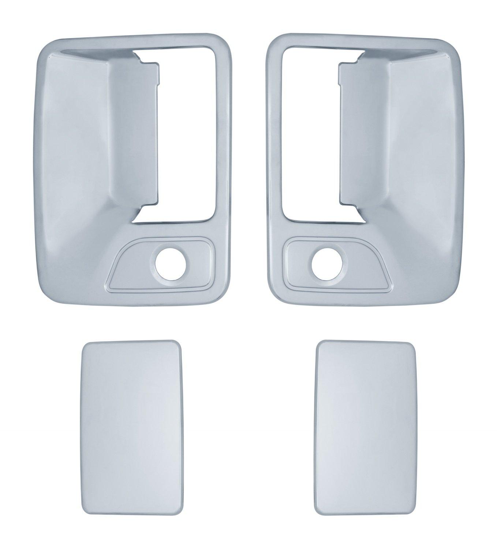 2 Piece Brite Chrome 11205 Chrome Handle Cover with Pass Keyhole