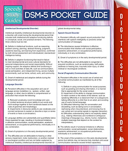 DSM-5 Pocket Guide (Speedy Study Guides)