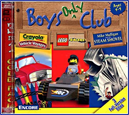 Boys Only Club Crayola Vehicle Voyages Lego Racers Mike Mulligan Steam Shovel