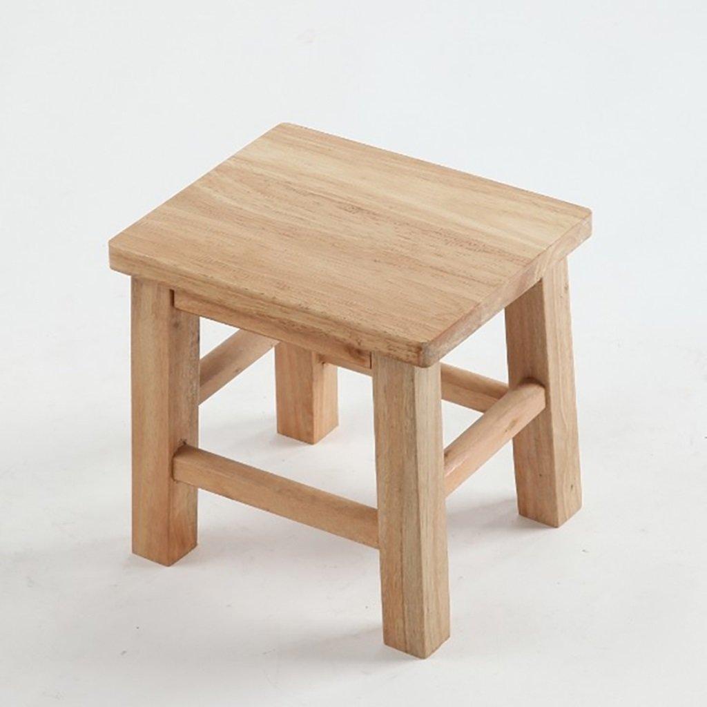 WENJUN Modern Minimalist Solid Wood Stools Square Stools Wooden Stools Wooden Stools Changing Shoes Stool Stools Bathroom Stools Children Stools Changing Shoe Stool ( Size : L )