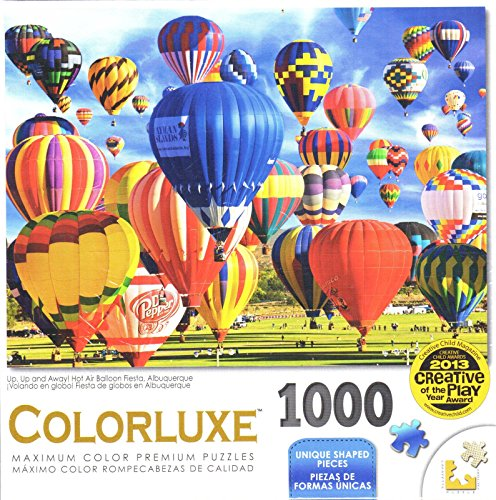 Colorluze 1000 Piece Puzzle - Up, Up and Away! Hot Air Balloon Fiesta
