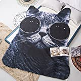 John Whitley 3D Animals Cat Printing Summer Quilt Bedding Blanket Kid Students Polyester Teens Comforter One Piece 47x67in