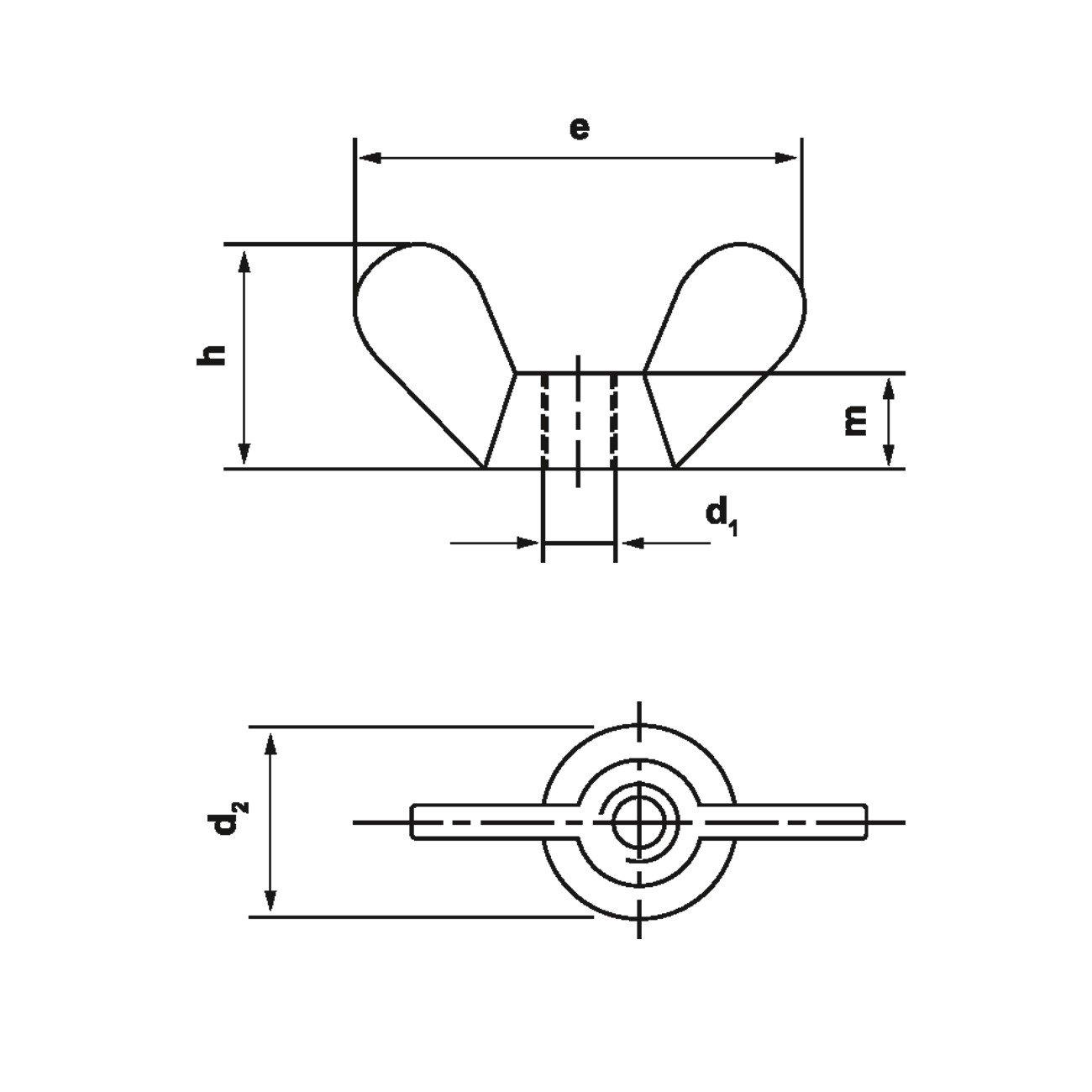 Dresselhaus Flü gelmuttern Temperguss, M 12 mm, galvanisch verzinkt, 50 Stü ck Dresselhaus GmbH & Co. KG 0/0600/001/  12 0/     /     /01