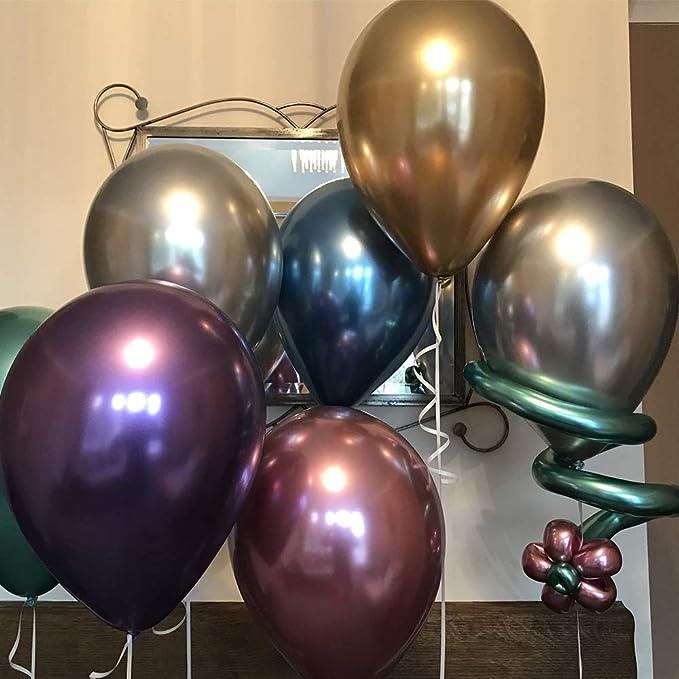 LAKIND Globos metálicos brillantes para cumpleaños, bodas, baby ...