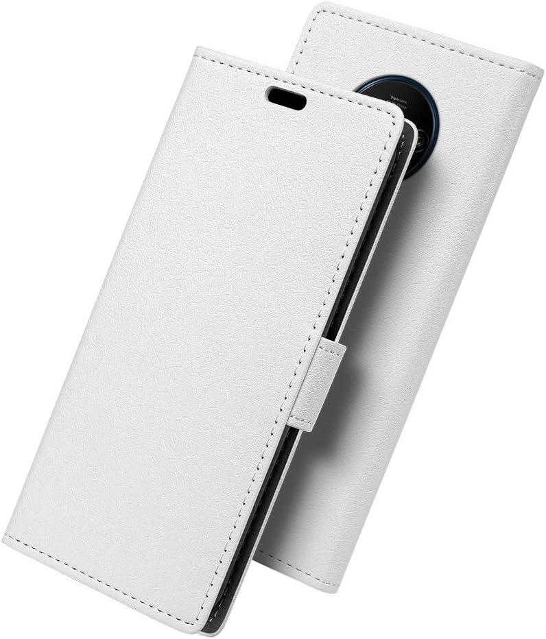 SLEO Funda para OnePlus 7T Carcasa Libro de Cuero Ultra Delgado con [Ranuras de Tarjeta,Soporte Plegable,Cierre Magnético] Case Flip Cover para OnePlus 7T - Blanco: Amazon.es: Hogar