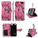 Camo Pink Mozzy Wallet Folio Case for Ipod Touch 5 6 5th 6th Dual Layer Interior Design Flip PU Leather Cover Card Cash Slots & Stand