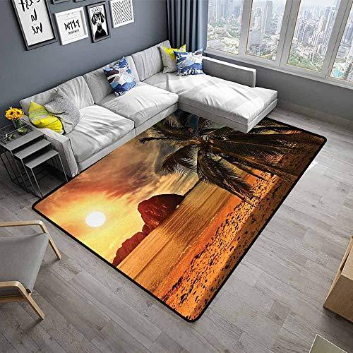 Ocean,Outdoor Kitchen Room Floor Mat 60