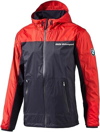 PUMA Men's BMW MSP Windbreaker Jacket, High Risk Red at ...