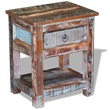 Amazon.com: festnight – Mesa auxiliar de café de madera ...