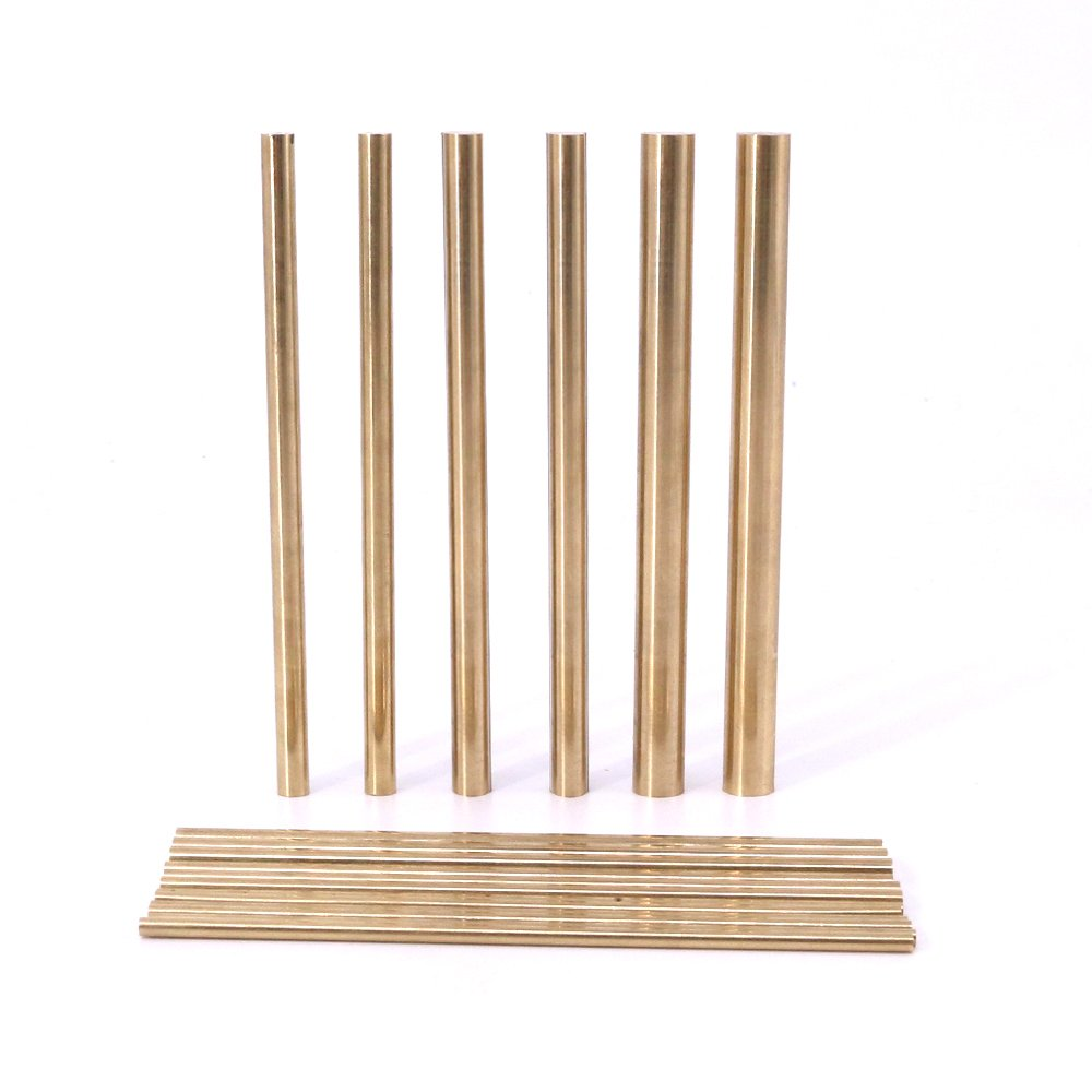 LEISHENT 2PCS Brass Solid Round Rods for DIY Craft,Diameter 7Mm Length 600Mm