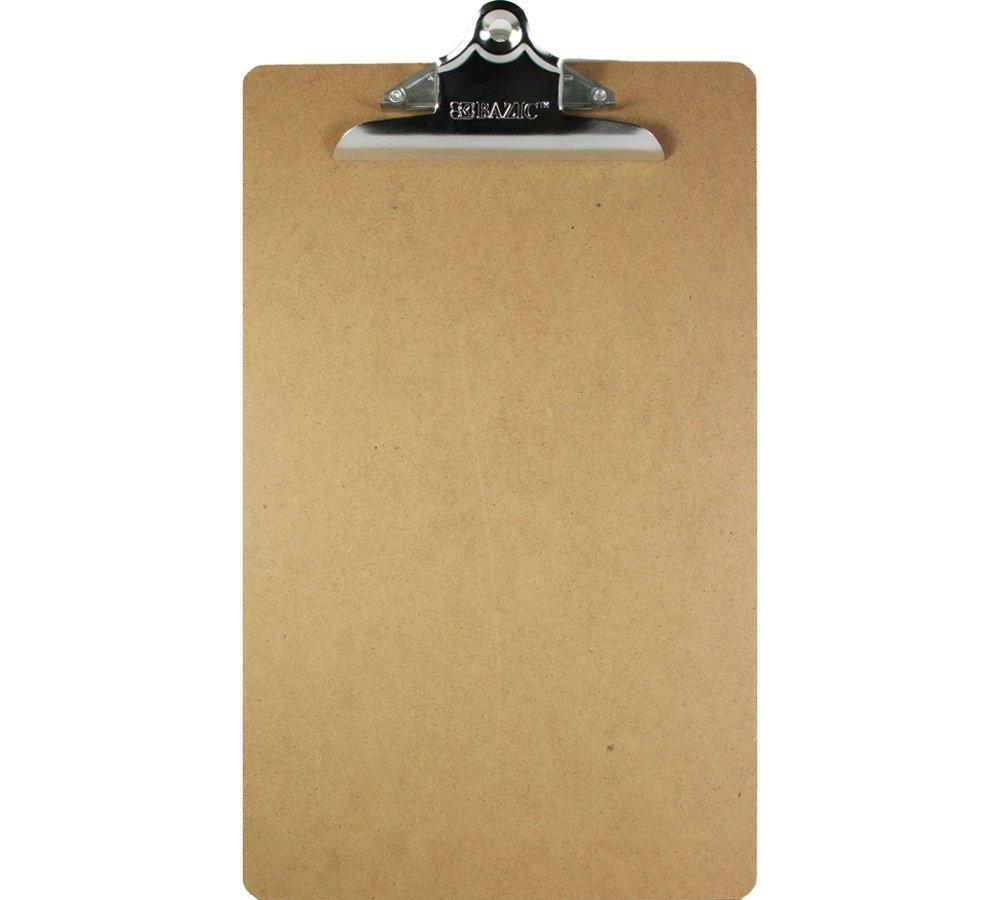 BAZIC Legal Size Hardboard Clipboard w/ Sturdy Spring Clip (Case of 24)