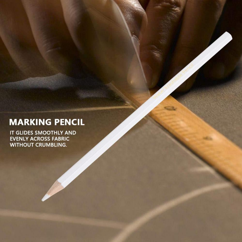 L/ápiz de tiza de sastre de 12 piezas costura l/ápices de marcadores artesanales de bricolaje l/ápiz de marcado de costura blanca l/ápiz soluble en agua herramienta pr/áctica de corte y limpieza