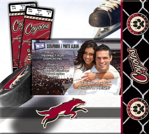 Phoenix Coyotes Photograph - NHL Phoenix Coyotes 8 x 8 Ticket and Photo Album Scrapbook, Small, White