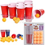 48PC ULTIMATE BOMBED BEER PONG DRINKING GAME TOY PUB PARTY FUN KIT 24CUPS-24BALL