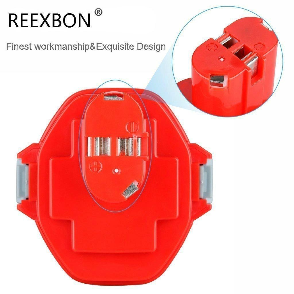 Bateria Makita 12V REEXBON Ni-MH Bateria de Repuesto para Makita PA12 1220 1222 1233 1200 1234 1235 1235B 1235F 1235A 192696-2 192698-8 192598-2 192681-5 192698-A 193138-9 193157-5 con Regalo Gratis