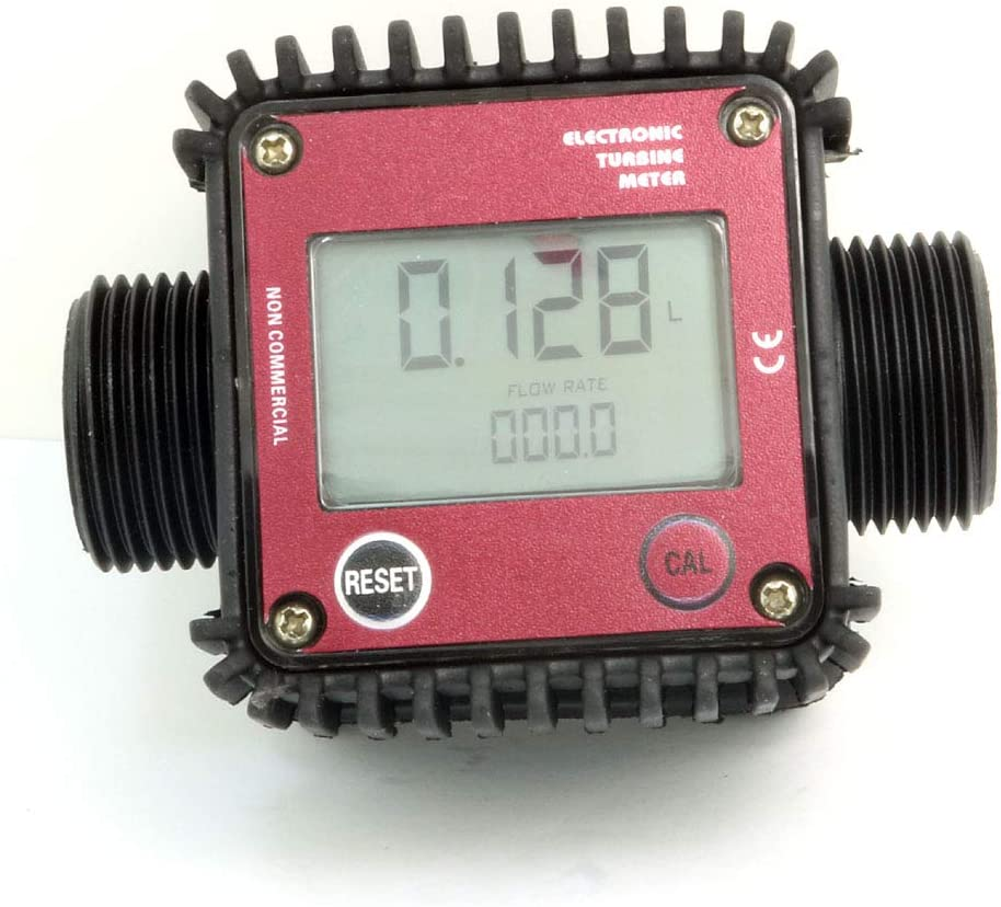 1900GPH Misuratori di portata elettronici a turbina elettronica NUZAMAS 1 per gasolio Combustibili chimici a getto dacqua a 1 pollice misuratore di portata Max 120L//M