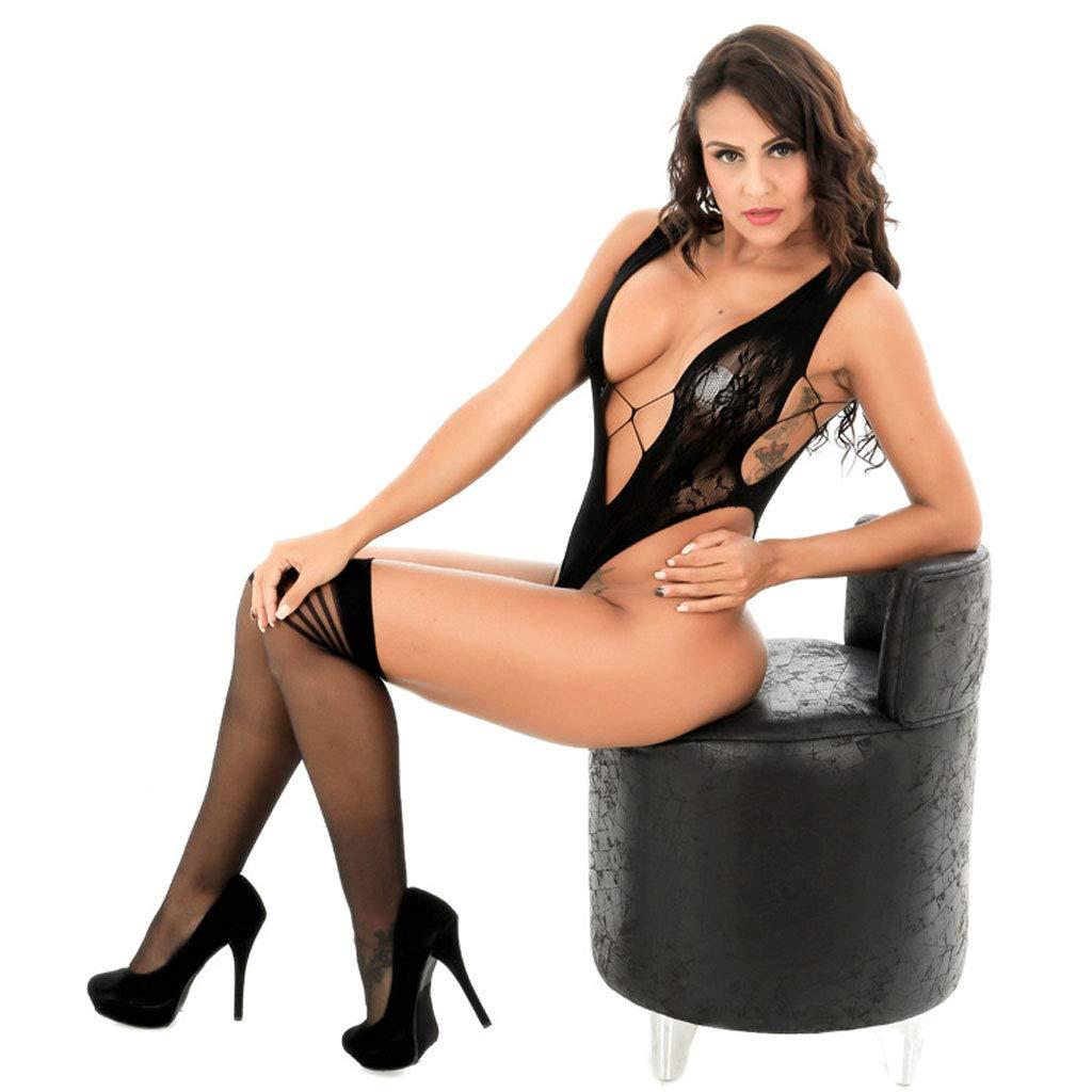 LLYDIAN Pijama de Mujer Sexy Negro Sexy Ropa Interior Mujer de Encaje de Mujer Interior (Color : Negro, Tamaño : L) 53ec50