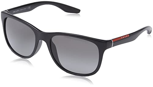 2f303d7549e3 Image Unavailable. Image not available for. Color  Prada Sport Sunglasses -  PS03OS   Frame  Black Demi Shiny Lens  Grey Gradient