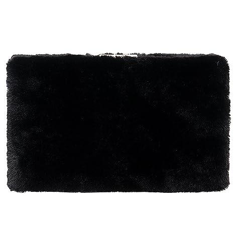 Bolso Mujer Noche Bolsas Fiesta Boda Carteras Mano Gamuza Cadena Embrague Negro