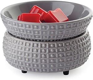 Candle Warmers Etc. Ceramic 2-in-1 Classic Fragrance Warmer, Slate