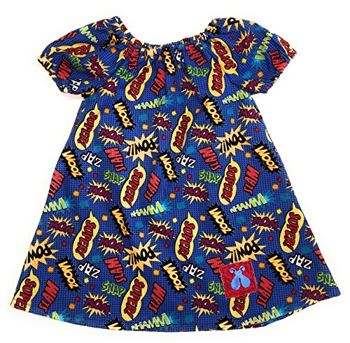 Bailey Bug Baby and Toddler Comic Book Peasant Dress (4T)