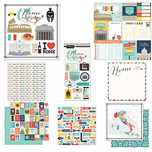 (Scrapbook Customs Themed Paper and Stickers Scrapbook Kit, Rome City)