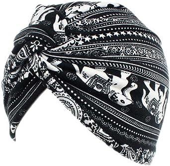 UK/_Stone Damen Elastische Baumwolle Schlafm/ütze Chemo Kopfbedeckung Kappe mit kleiner Blumen Mustern Geeignet f/ür Kopf-W/ärmehaltung der Schwangere