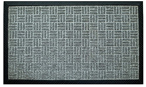 - Iron Gate - 2 Pk Gatekeeper Doormat 24x36 Light Grey - Extremely Sturdy and Rugged Construction 69 Ounces / 6000 GSM - Polypropylene Surface & Rubber Back for Better Floor Grip - Indoor/Outdoor use