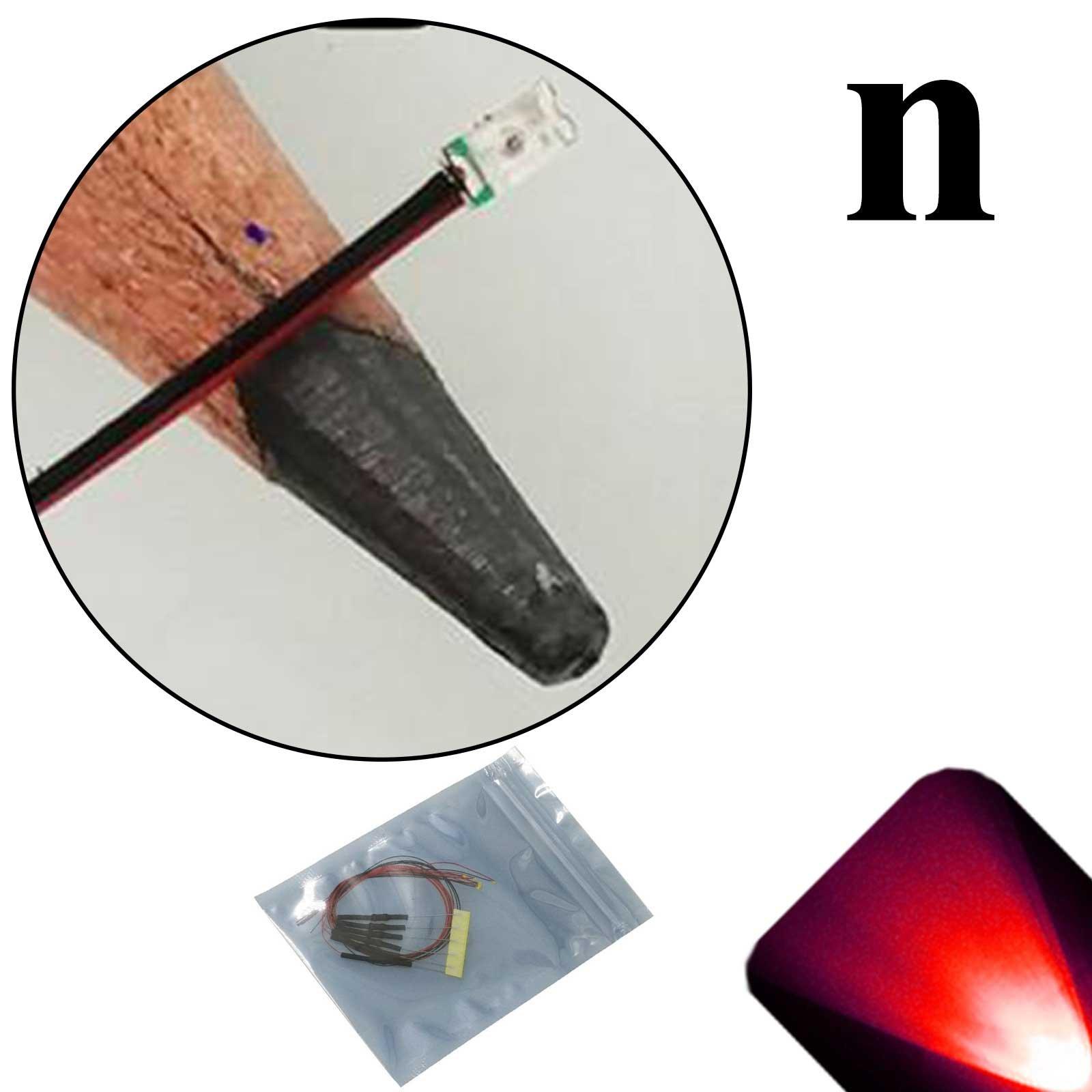 Lighthouse LEDs 12v 0603 Nano SMD Wide Angle Pre-Wired Red LED - Ultra Bright (10v, 11v, 12v, 13v, 14v, 15v, 16v, 17v, 18v) (Pack of 20)